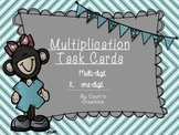Multiplication Task Cards Combination -up to 4 Digits x 1 Digit