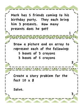Multiplication Task Cards - Common Core Aligned Multiplication Center
