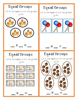 Multiplication Task Cards - Fall Themed
