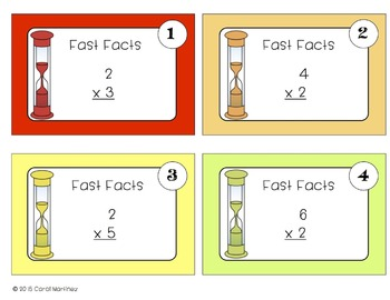 Multiplication Task Cards {Fast Facts}