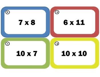 Multiplication Task Cards Randomized / Multiplication Flash Cards