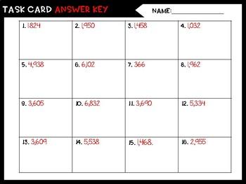 Multiplication Task Cards - Freebie