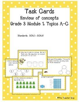 Multiplication Task Cards Grade 3 NYS Module 1