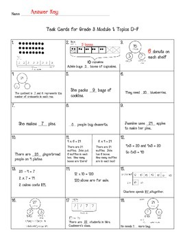 Multiplication Task Cards Grade 3 NYS Module 1 (part 2)