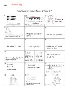 Multiplication Task Cards Grade 3 NYS Module 1 (part 2)