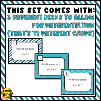 Multiplication Task Cards Grades 4-5