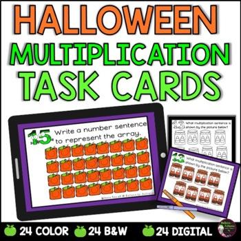 Multiplication  Task Cards - (Halloween Theme) FREE