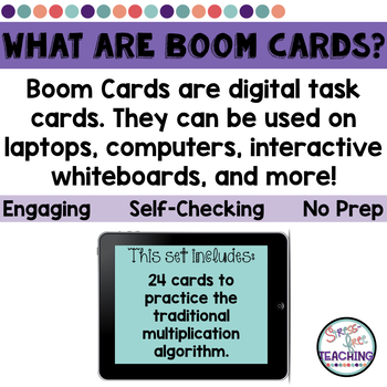Multiplication Task Cards Halloween Themed for use with Boom Learning