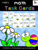 Multiplication Task Cards ~ Interpret a Multiplication Equation as a Comparison