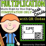 Multiplication Task Cards - Multi-Digit by 1-Digit COMPUTA