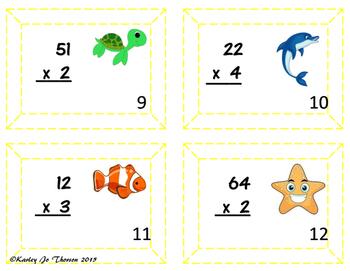 Multiplication Task Cards: Multi-Digit by Single Digit