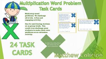Multiplication Task Cards (Multi-Step)