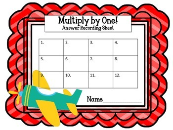 Multiplication Task Cards. Multiply by One.Times Tables. Assessment. Math Center