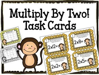 Multiplication Task Cards. Multiply by TWO.Times Tables. A