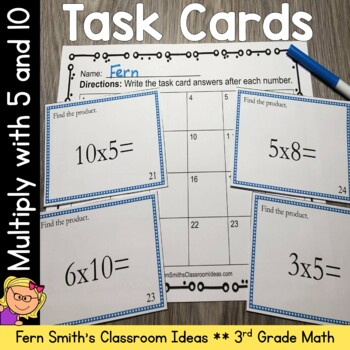 Multiplication Task Cards - Multiply By 5 and 10