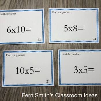 3rd Grade Go Math 4.2 Multiplication Task Cards - Multiply By 5 and 10
