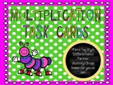 Multiplication Task Cards {{Name Tag Style- SO ENGAGING!}}
