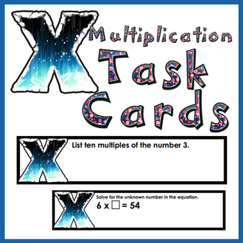 Multiplication Task Cards Over 200 Multiplication Cards