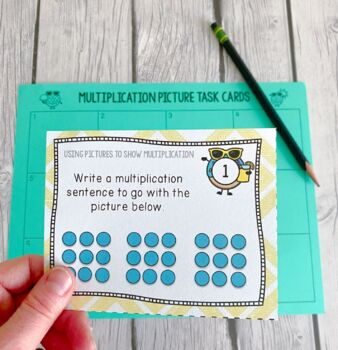 Multiplication Pictures Task Cards Math Center