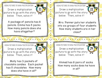 Multiplication Pictures Task Cards, Math Center