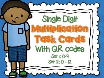 Multiplication Task Cards QR