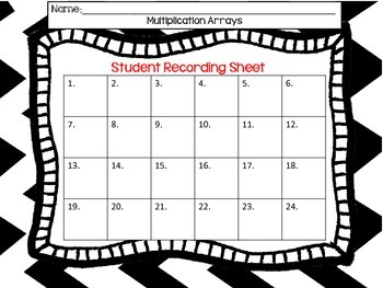 Multiplication Task Cards QR Codes