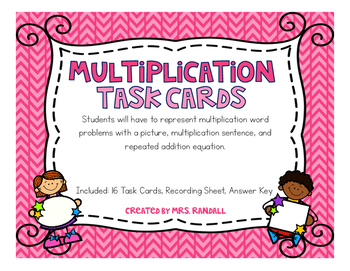 Multiplication Task Cards (Scoot)