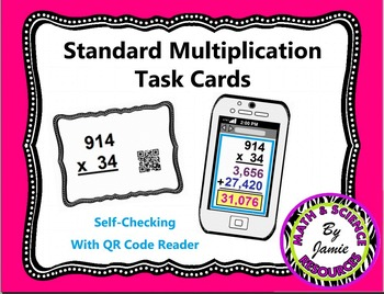 Multiplication Task Cards (Self-Check with QR codes)