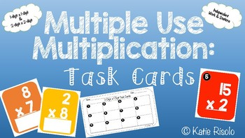 Multiplication Task Cards - Stations and Independent Work!