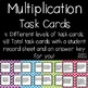 Multiplication Task Cards Story Problems