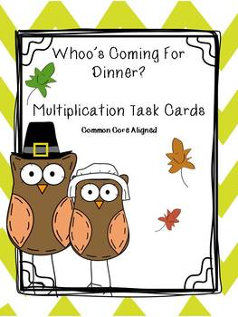 Thanksgiving Math Multiplication Task Cards