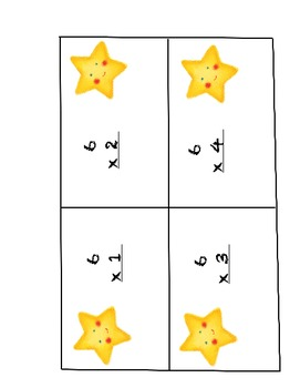 Multiplication Superstar Flash Cards - Times Tables 1 - 12