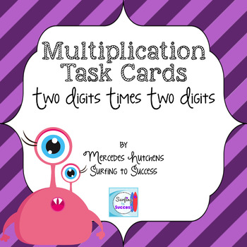 Multiplication Task Cards Two Digit Numbers