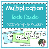 Multiplication Task Cards: Using the Partial Products Strategy