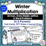 Multiplication Task Cards Winter Themed