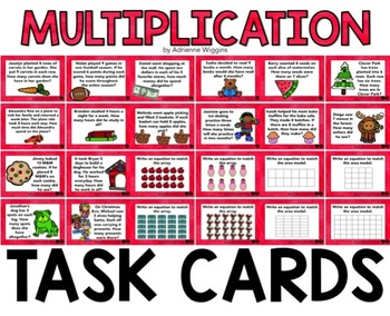 Multiplication Task Cards (Word Problems)
