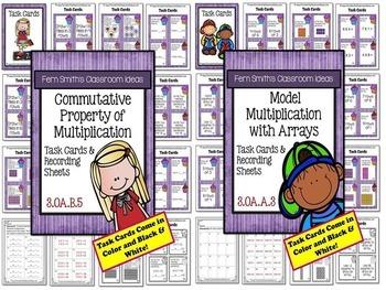 3rd Grade Go Math Chapter Three Understanding Muliplication Task Cards Bundle