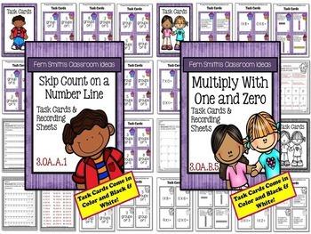 3rd Grade Go Math Chapter 3 Understanding Muliplication Task Cards Bundle