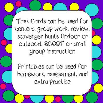 Multiplication of Whole Numbers Task Cards and *NO PREP* Worksheets