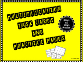 Multiplication Task Cards and Practice Pages - 2 Digit by