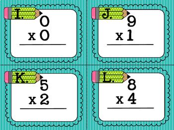 Multiplication Task Cards for Beginners