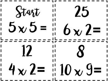 Multiplication Task Cards for Math Centre - Math Task Cards for Math Hunt!