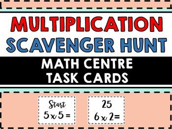 Multiplication Task Cards for Math Centre - Math Task Card