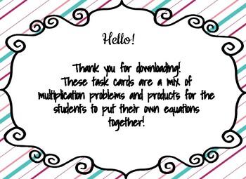 Multiplication Task Cards v.1