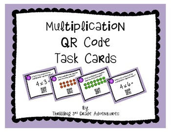 Multiplication Task Cards with QR Codes!