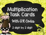 Multiplication Task Cards with QR Codes: 2 digit by 2 digit