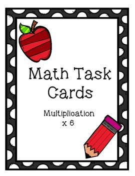 Multiplication Task Cards x6