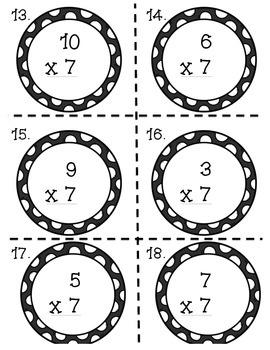 Multiplication Task Cards x7