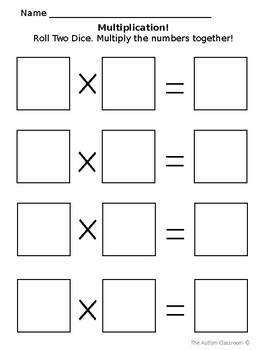 Multiplication Template