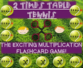 Multiplication Tennis Game - 2 Times Tables!